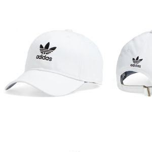 Adidas White Trefoil Baseball Hat OS